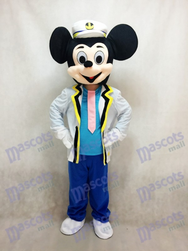 Navy Mickey Mouse Mascot Adult Costume Anime
