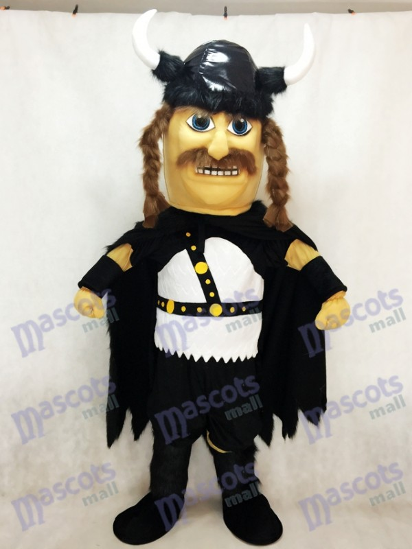 Odin Viking Plush Mascot Costume with Black Cloak