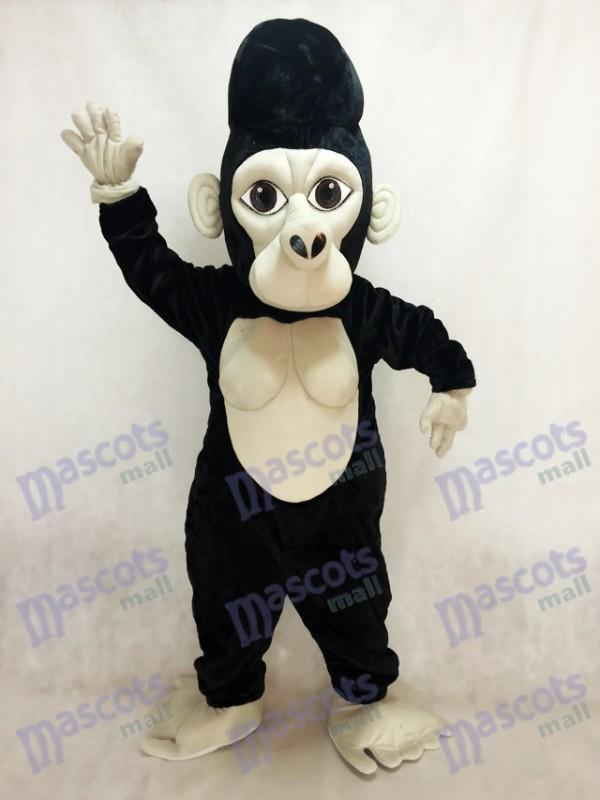 Black Silverback Gorilla Mascot Costume