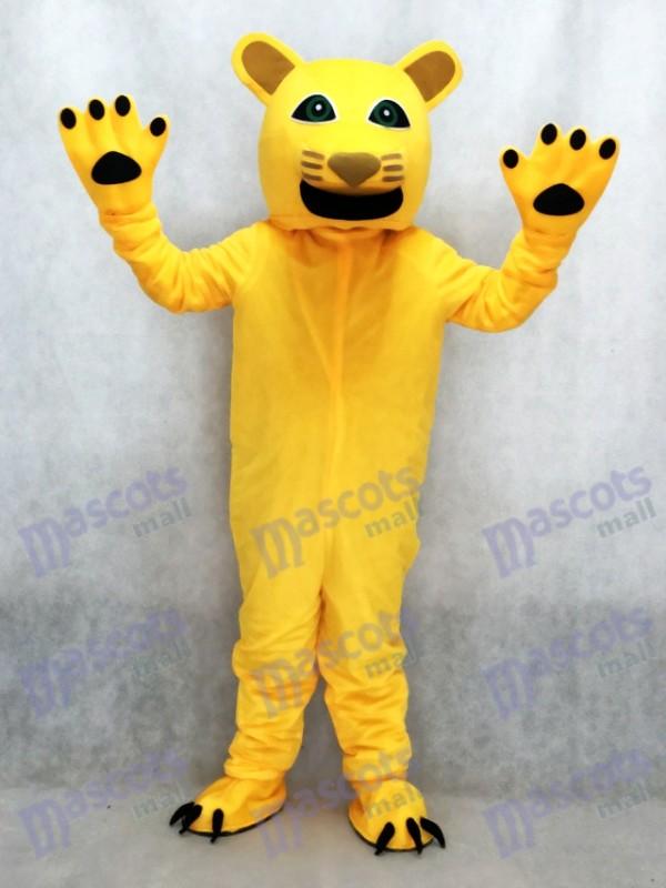 Yellow Cougar Mascot Costume