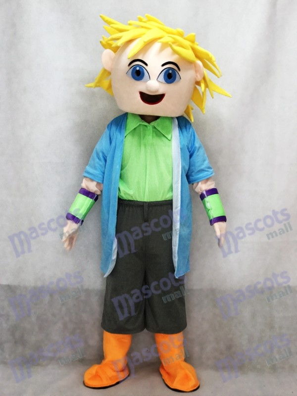 Dj Big Boy Blonde Hair Man Mascot Costume