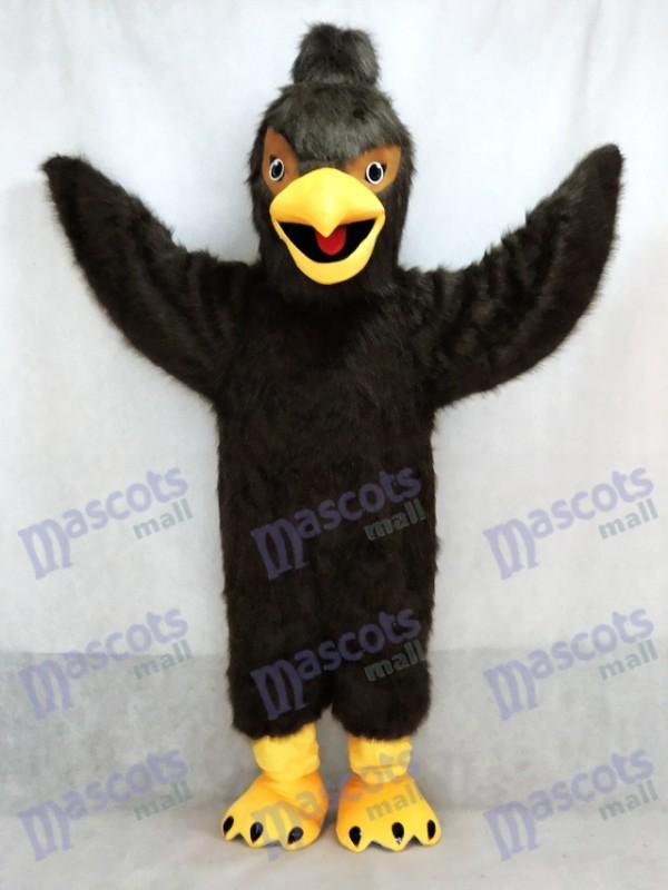 Dark Brown Feather Hawk Falcon Eagle Mascot Costume Animal