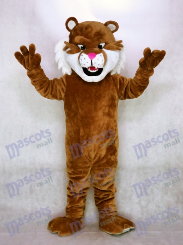 New Realistic Sabretooth Tiger Mascot Costume AnimalRealistic Tiger Costume