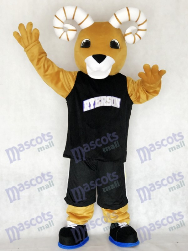 Sport Team Ram Ryerson Mascot Costume in Black Suit