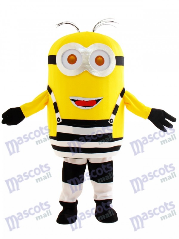 Two Eyes Happy Minion in Prison Despicable Me Mascot Costume Cartoon