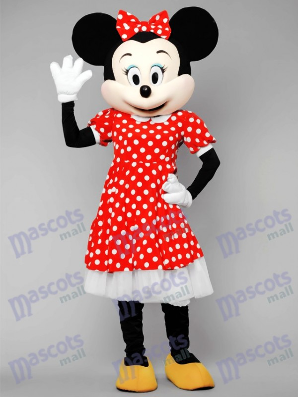 Minnie Mouse In Polka Dot Dress Mascot Costume