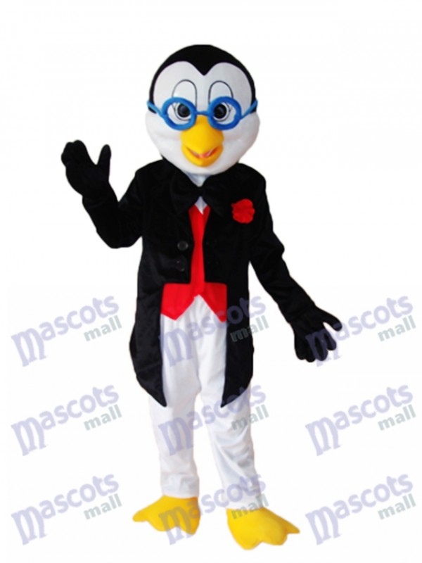 Old Glasses Penguin Mascot Adult Costume