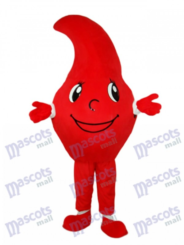 Red Dripping Drop of the Blood Mascot Adult Costume