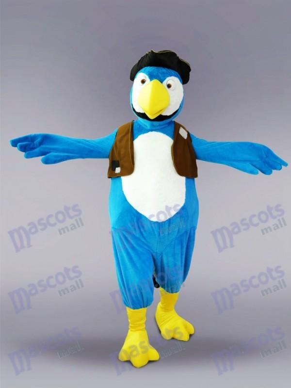 Blue Parrot Bird Mascot Costume