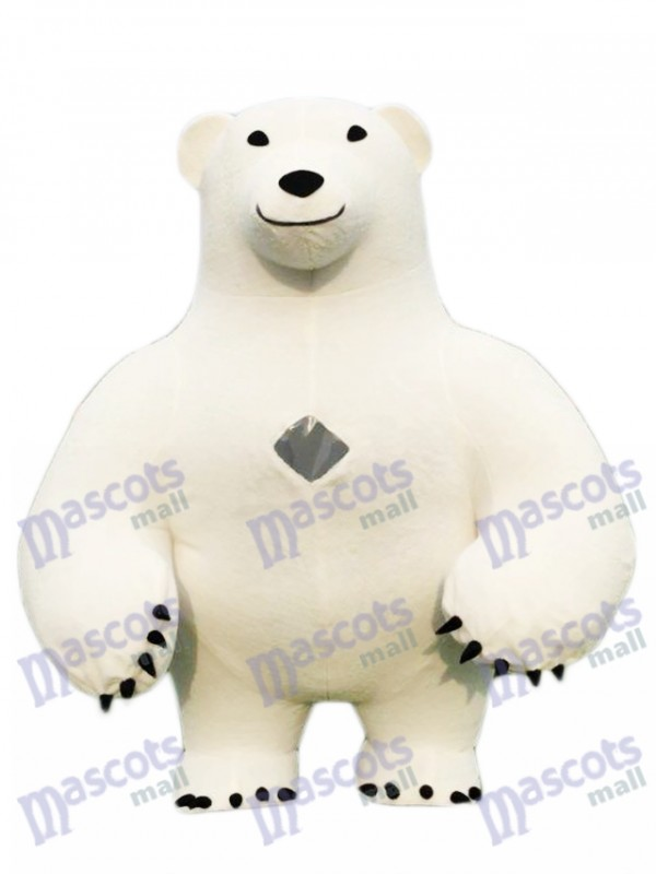 Polar Bear Adult Mascot Costume Animal