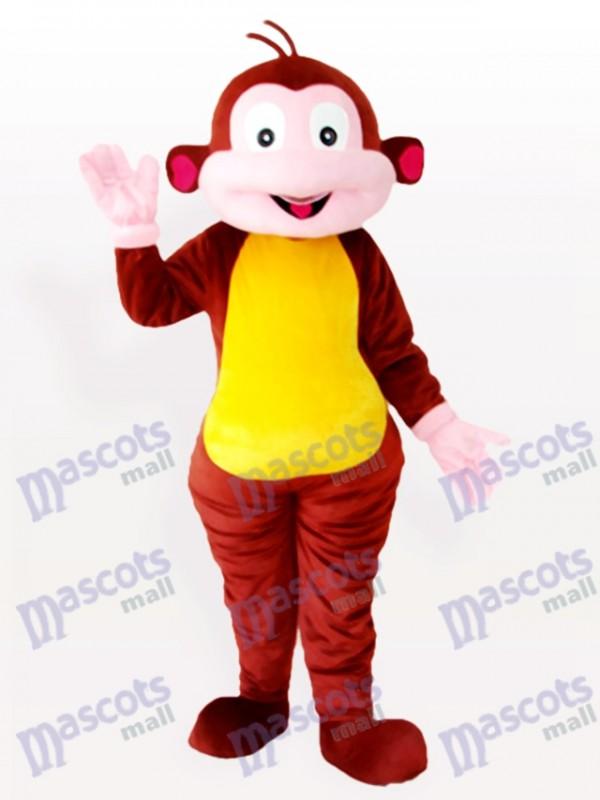 Cartoon Monkey Brown Animal Mascot Costume