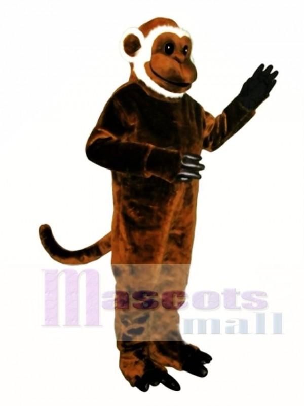 Cute Bearded Monkey Mascot Costume