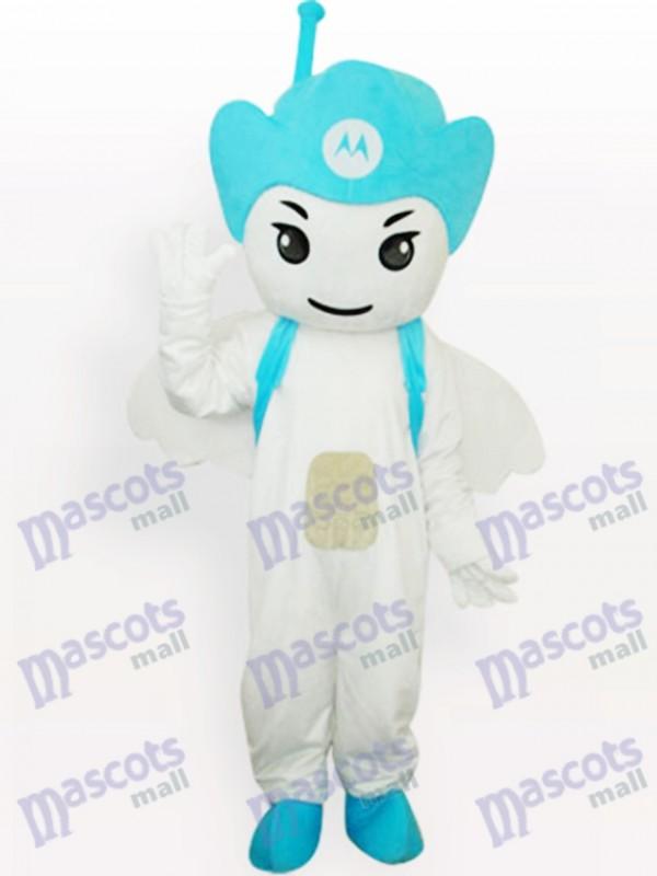 Green Moto Angel Party Adult Mascot Costume