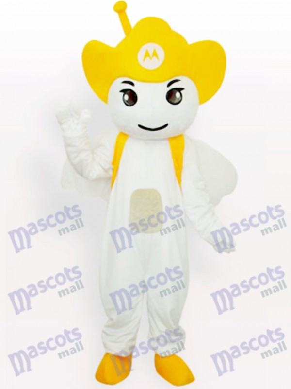 Yellow Moto Angel Party Adult Mascot Costume