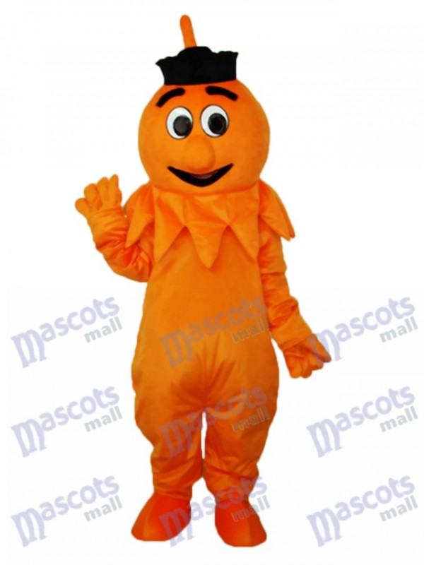 Orange Monster Mascot Adult Costume
