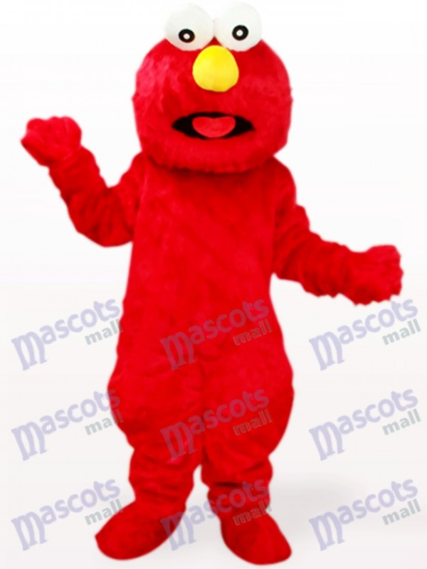Red Long Hair Monster Party Adult Mascot Costume