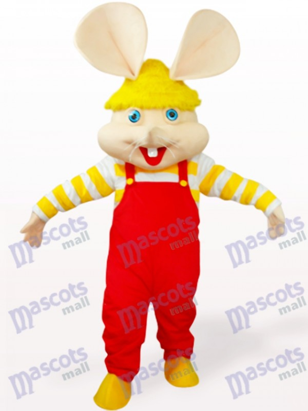 Red Big Face Mouse Animal Mascot Costume