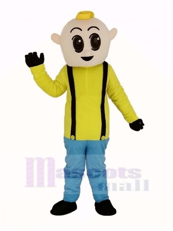 Boy with Yellow Shirt Mascot Costume