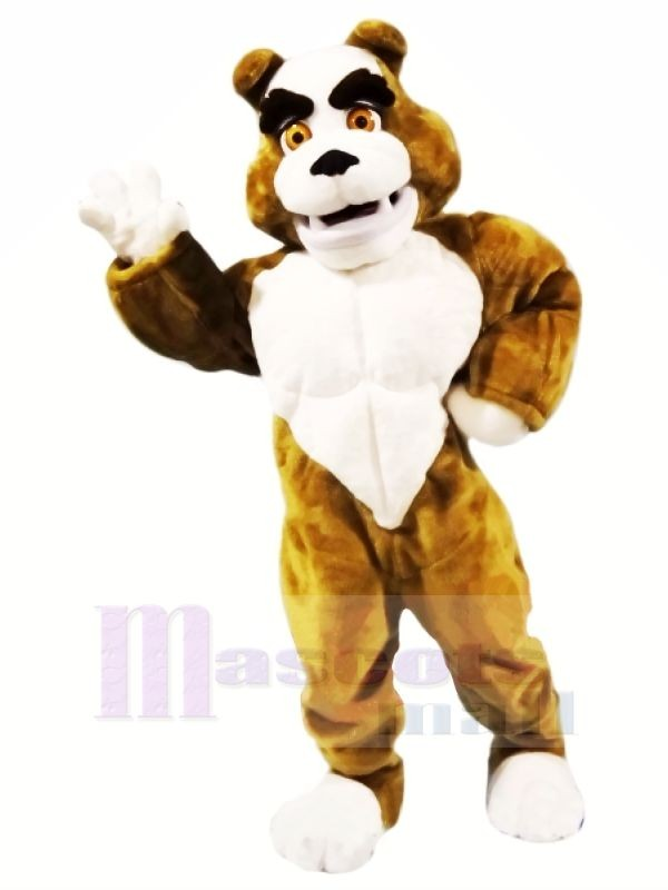 Power Muscular Bulldog Mascot Costumes Cartoon