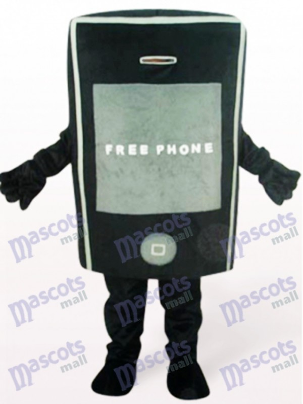 Black Phone For Promotion Adult Mascot Costume