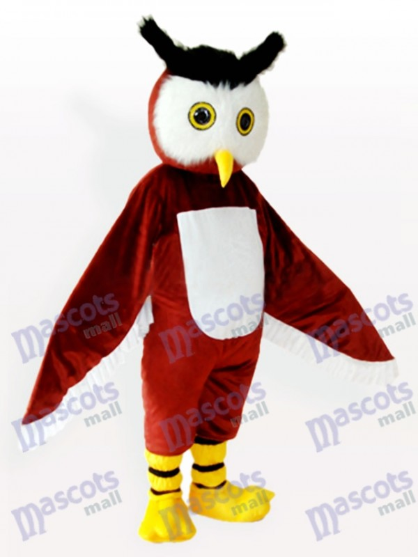 Brown Owl Animal Adult Mascot Costume