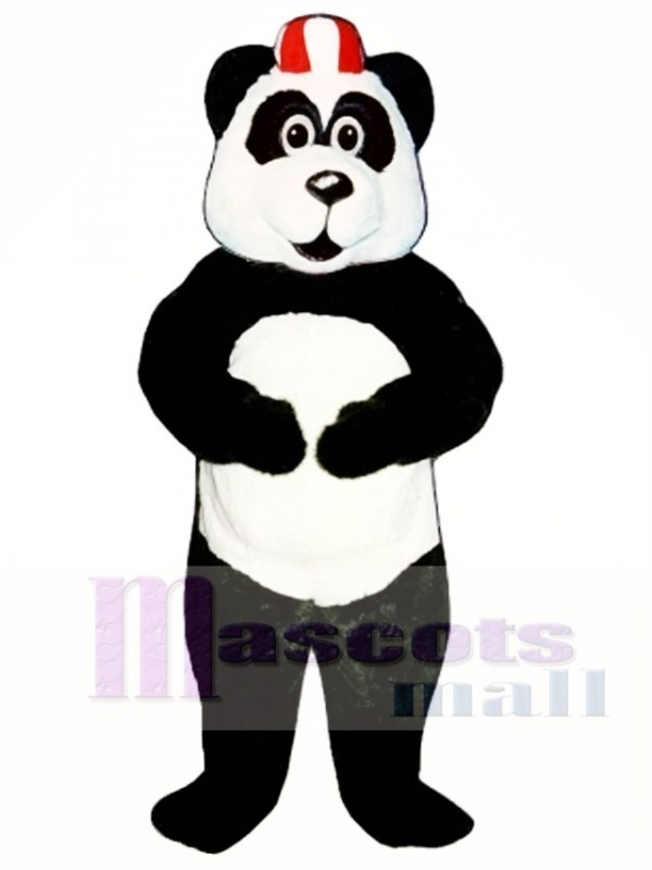 Peter Panda with Hat Mascot Costume