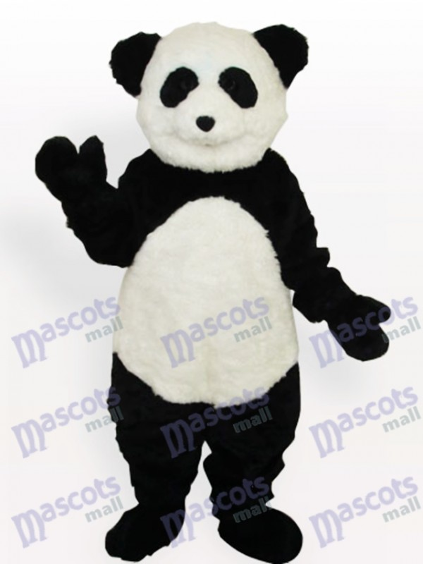 Smiling Panda Long Animal Adult Mascot Costume