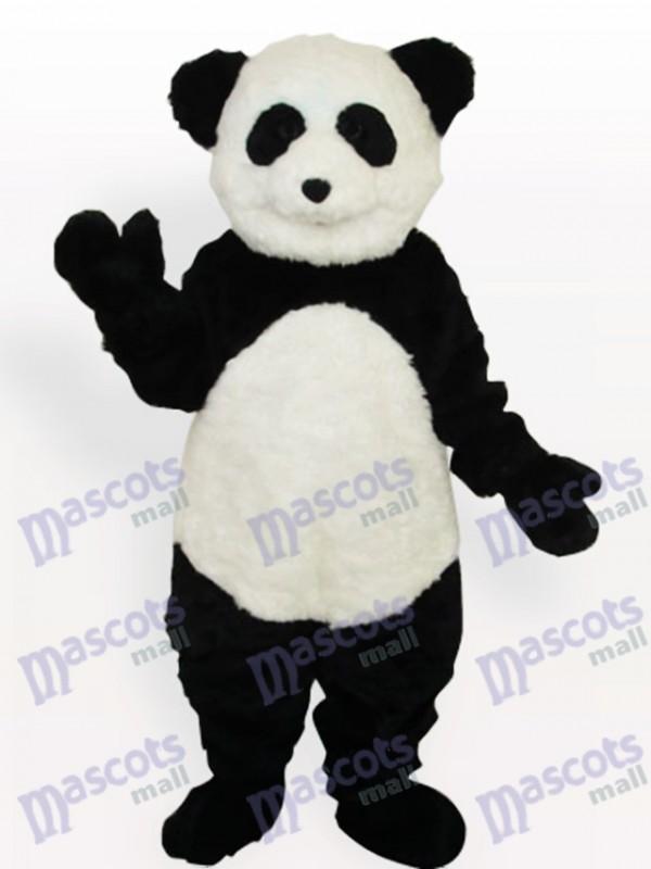 Smiling Panda Long Animal Adult Mascot Costume