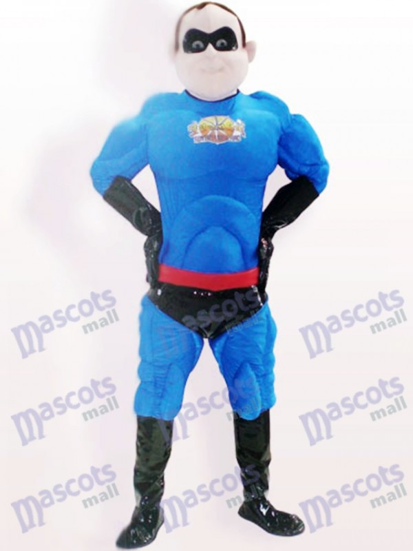 Super Man Polyester Bengaline Cartoon Adult Mascot Costume