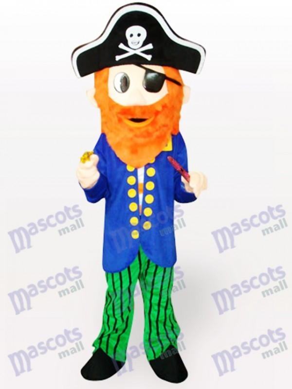 Pirate Cartoon Adult Mascot Costume