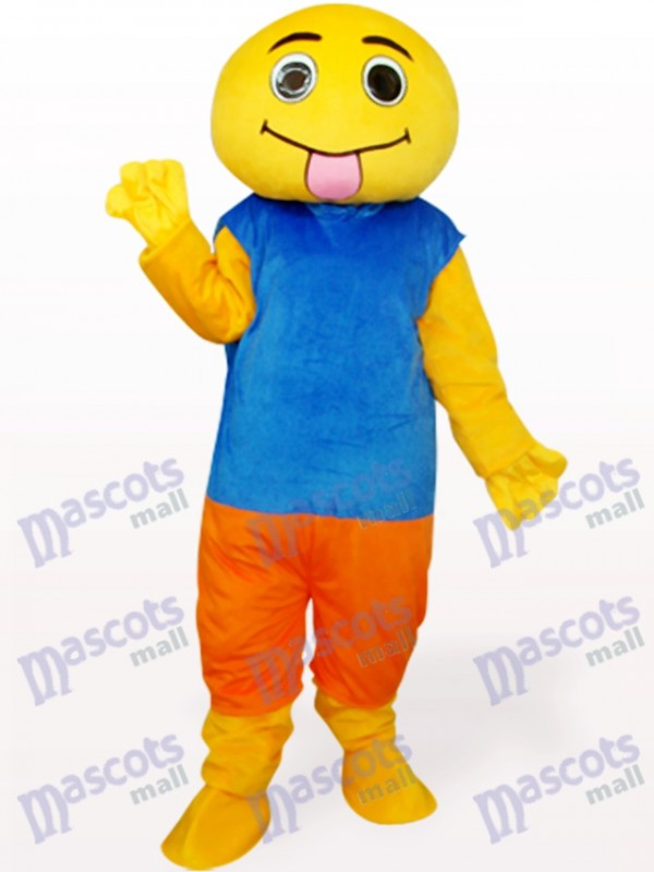 Brown And Blue Doll Adult Mascot Costume