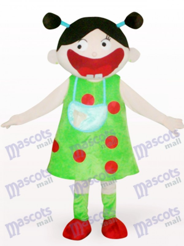 Arab Girl Cartoon Adult Mascot Costume