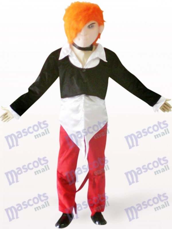 Handsome Boy Cartoon Adult Mascot Costume