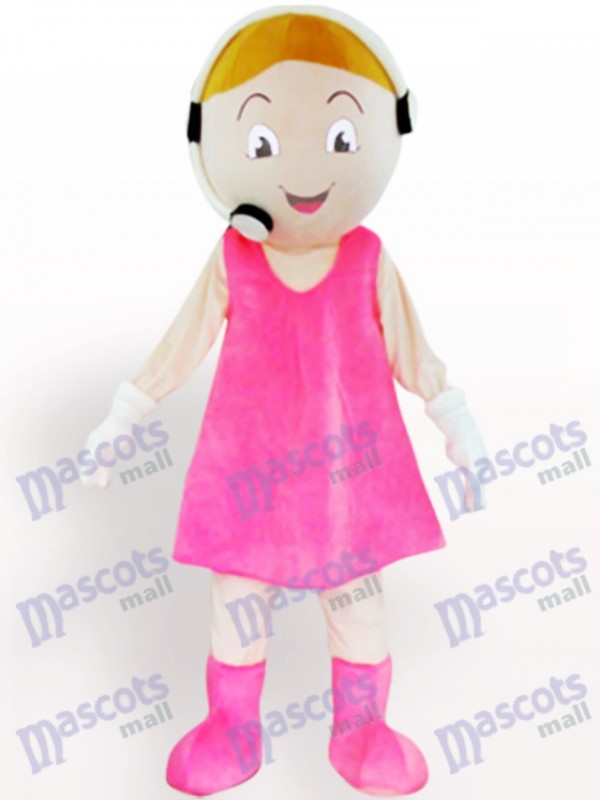 Customer Service Representative Cartoon Adult Mascot Costume