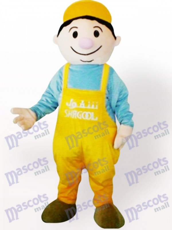 Miner Boy Cartoon Adult Mascot Costume