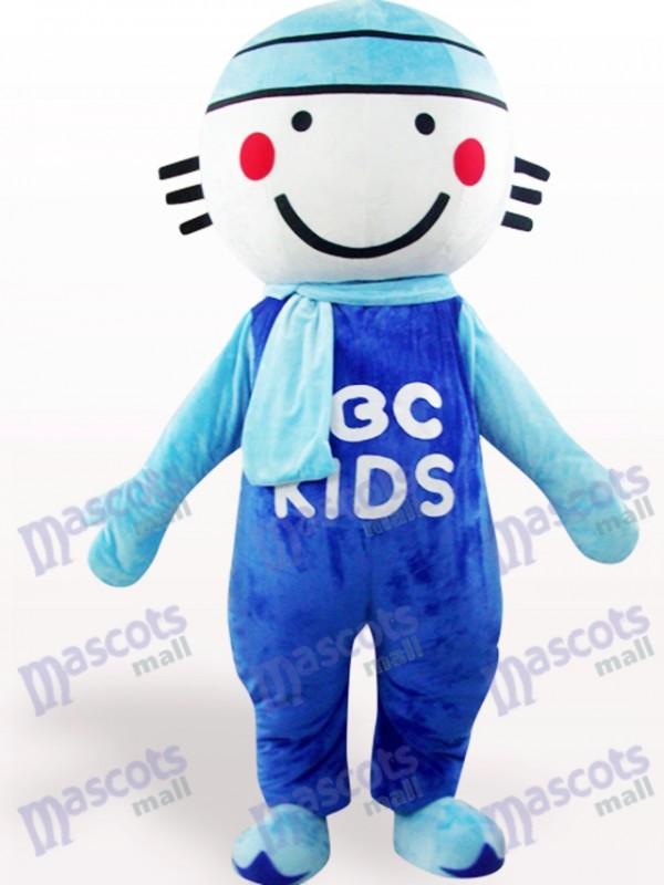 Blue Round Head Doll Cartoon Adult Mascot Costume