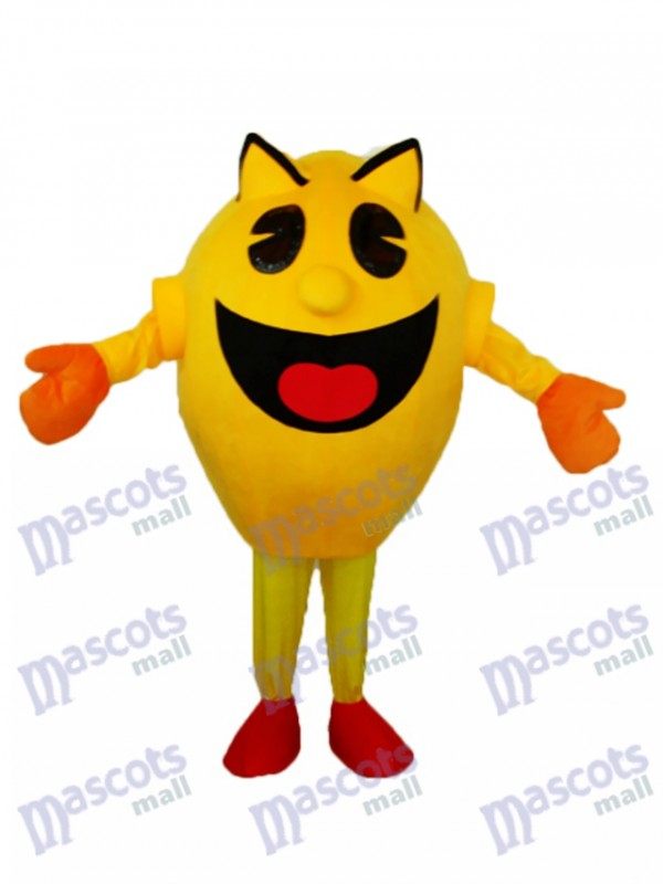 Yellow Superman Mascot Adult Costume