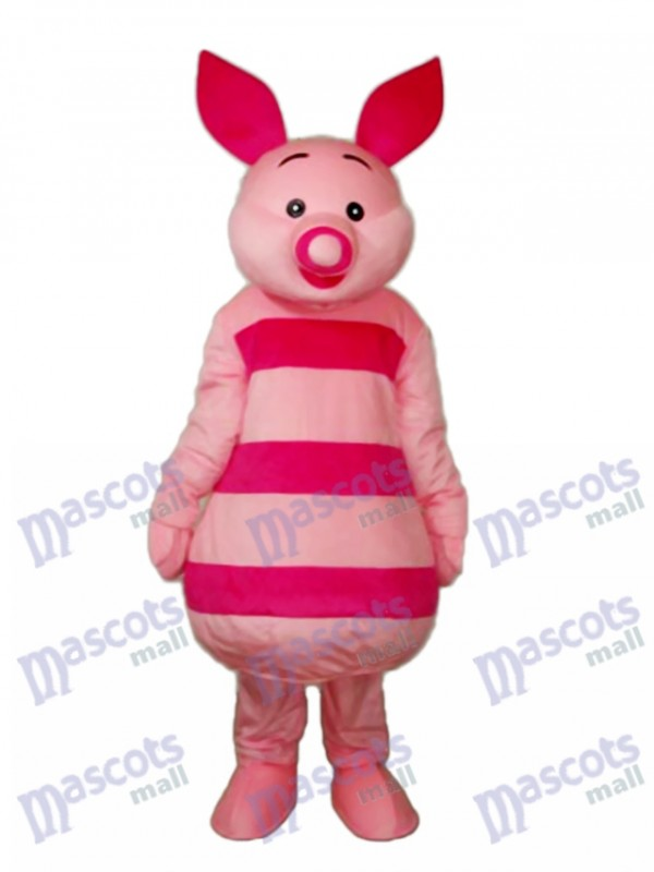 Small Round Nose Pink Pig Mascot Adult Costume