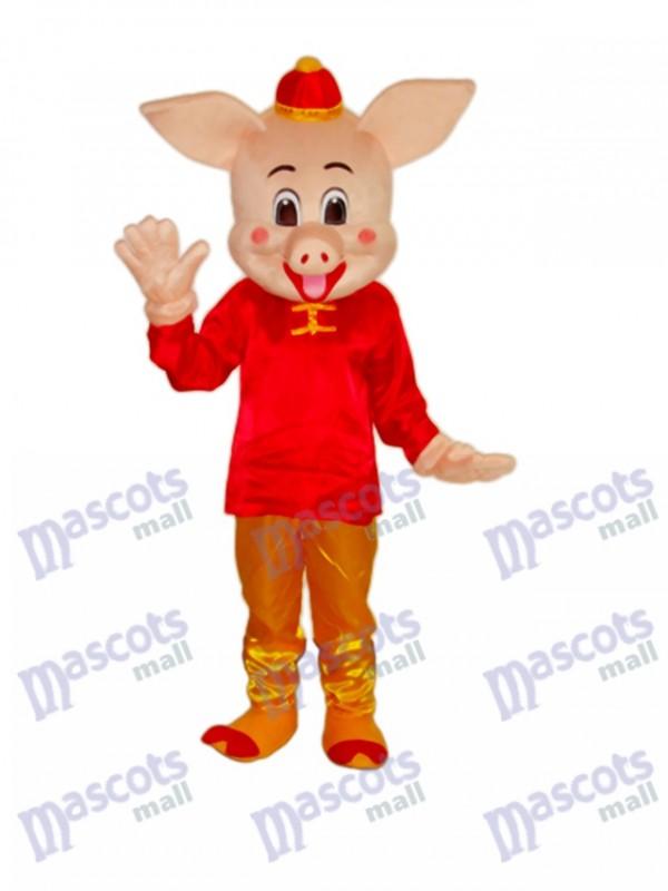 Golden Pig Mascot Adult Costume