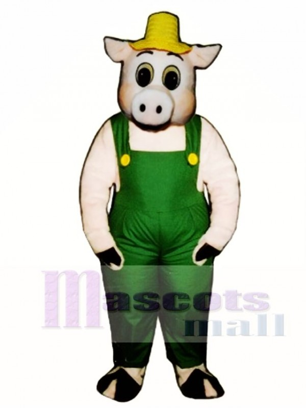 sc 1 st  mascot costume & Cute Otis Oinker Pig Hog with Straw Hat u0026 Overalls Mascot Costume Animal