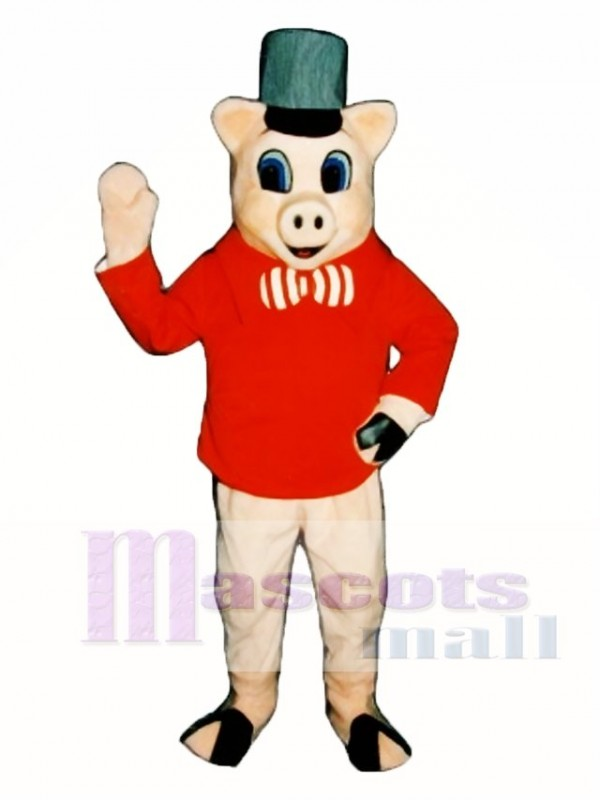 Brick Pig Mascot Costume