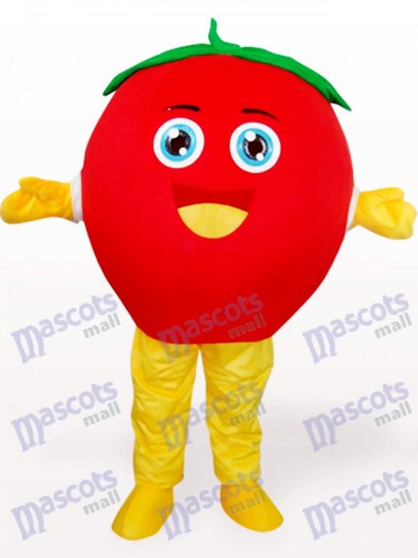 Happy Tomato Fruit Adult Mascot Costume