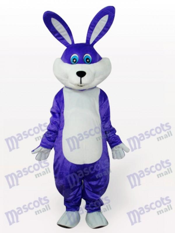Purple Easter Bunny Rabbit Animal Adult Mascot Costume