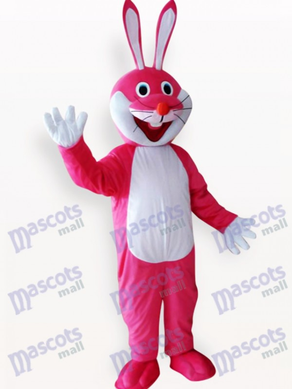 Easter Pink Rabbit Animal Adult Mascot Costume