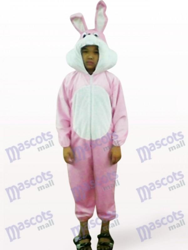 Easter Pink Rabbit Open Face Kids Animal Mascot Costume