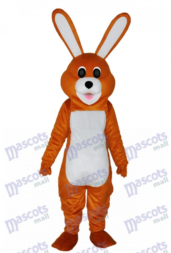 Easter Lovely Brown Rabbit Adult Mascot Costume