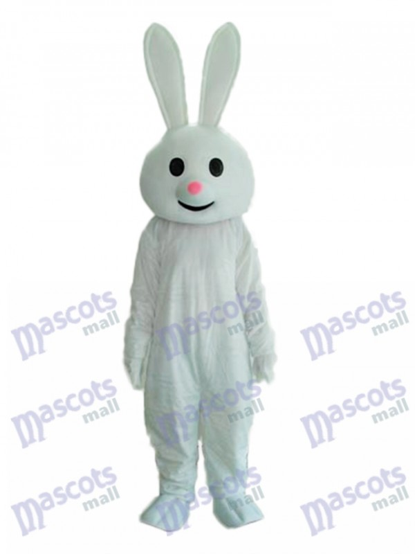 Easter Pink Nose Rabbit Mascot Adult Costume