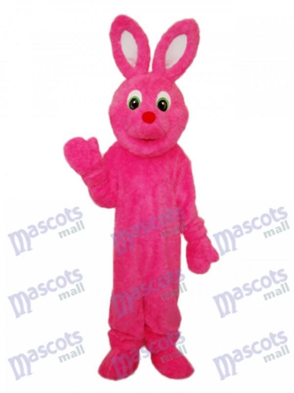 Easter Pink Furry Rabbit Mascot Adult Costume