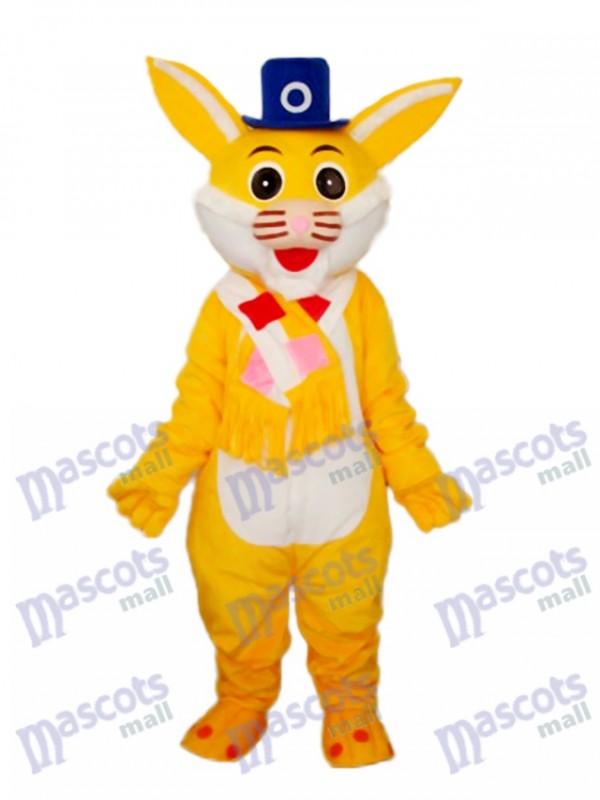 Easter Yellow Rabbit Mascot Adult Costume
