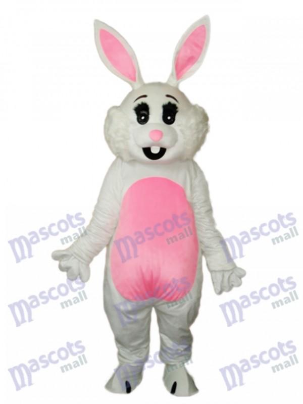 Easter Pink Ears Rabbit Mascot Adult Costume